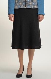 Černá pletená sukně