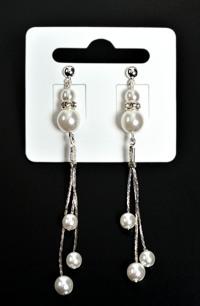 Náušnice visací s perličkama