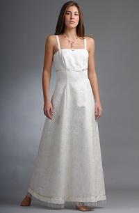 Svatební šaty na ramínka