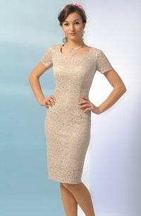 Elastické jednoduché šaty krajkové vhodné jako svatebni saty