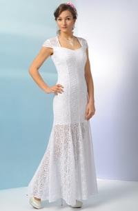 Bílé svatební šaty z luxusní krajky