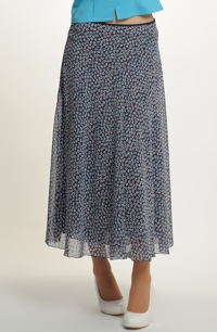 Kolová bohatá sukně