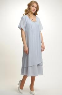 Dámské šaty z jemného šifonu