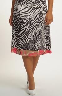 Dámská elegantní sukně se vzorem