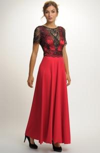 Plesové červené šaty