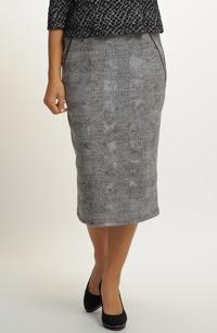 Dámská pleteninová sukně