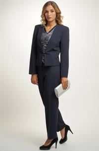 Elegantní kalhotový komplet - sako a kalhoty