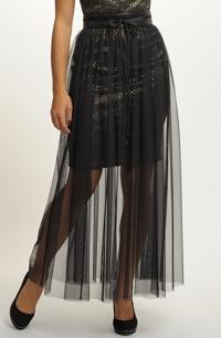 Tylová dlouhá sukně