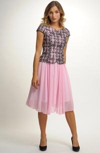 Společenský top a řasená sukně