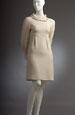 Tunikové šaty do sedla s velkým límcem