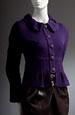 Dámský pletený kabátek s řaseným límcem