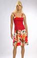 Šaty s elastickým tělem a květovanou sukní