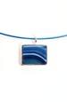 Modrý náhrdelník - lanko na krk