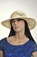 Letní smetanový klobouk