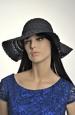 Černý dámský letní klobouk