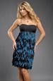 Mladistvé šaty s řasenýmí pruhy