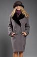 Krátký hnědý zimní kabát s velkou kožešinou