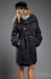 Dámský zimní kabátek s dvouřadovým zapínáním