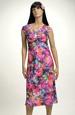Lehké barevné letní společenské šaty