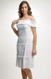 Krátké bílé šaty s raminky