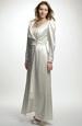 Svatební saténový kabát