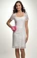 Pouzdrové svatební šaty s krajkou