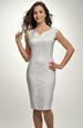 Dívčí bílé společenské šaty