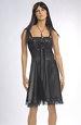 Černé taftové šaty na tanec