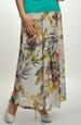 Šifónová květovaná letní sukně