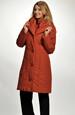 Dlouhá kabát-bunda ze zajímavého prošívaného materiálu