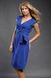 Společenské koktejlové šaty v královské modré