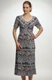 Černobílé šaty v lady délce