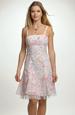 Šaty mini ramínkové s drobnými květy