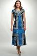 Společenské šaty s velkým vzorem