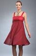 letní krátké empírové šaty
