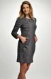 Pleteninové šaty s módním nabíráním u kapes