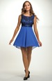 Dívčí šaty s kolovou sukní