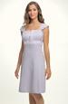 Krátké fialové šaty na široká raminka