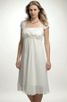 Svatební šaty s řasením na sedle