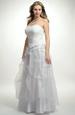 Korzetové šaty s nabíranou organzovou sukní