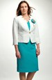Komplet-pouzdrové šaty s kabátkem