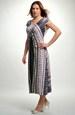 Elegantní společenské šaty s řasením předním dílu
