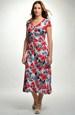 Červenobílé šaty v lady délce