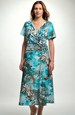 Společenské letní šaty s řasením na boku