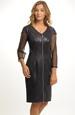 Šatová sukně zdobená imitací kůže a síťkou