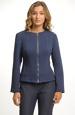 Pleteninový kabátek modrý