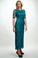 Krajkové zelené šaty