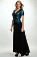 Elegantní večerní, plesové šaty s řasením