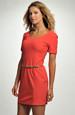 Červené mini šaty z elastické tkaniny