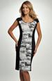 Pouzdrové šaty s volánkovým vzorovaným zdobením